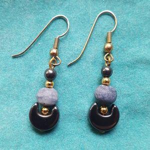 Beautiful hematite drop earrings